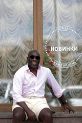 Former England captain Sol Campbell poses for a photograph after an interview with Reuters in Volgograd