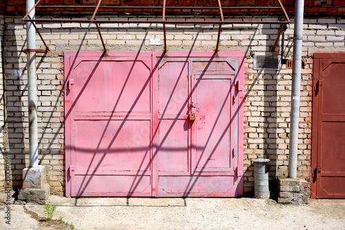 Unusual Garage Doors In Pink Color