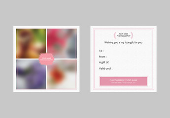Square Photography Business Card Layout