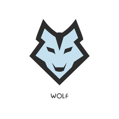 Wolf head icon. Logo for your project. Vector illustration.