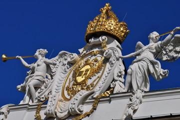 Engelstatuen als Zierwerk der Wiener Hofburg