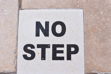 no step sign
