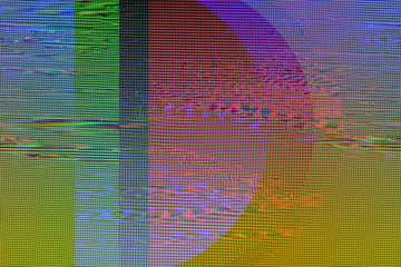 Glitch texture pixels neon color
