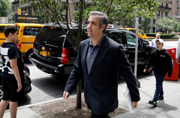 U.S. President Donald Trump's personal lawyer Michael Cohen arrives at his hotel in New York