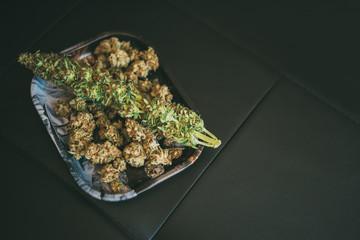 Marijuana or cannabis plant