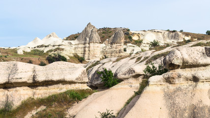 old mountain slopes in Goreme National Park