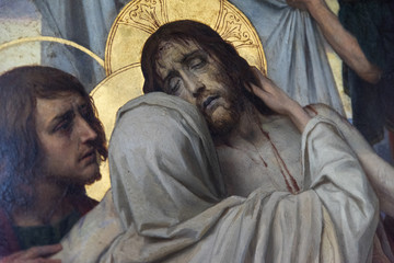 Suffering Jezus and Maria
