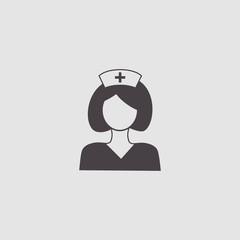 nurse, doctor woman vector icon illustration