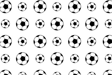 Football balls pattern on the white background