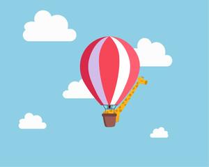 Giraffe in the balloon