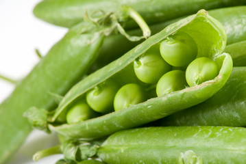 Isolated image of peas close up
