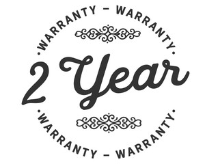 2 years warranty icon stamp guarantee