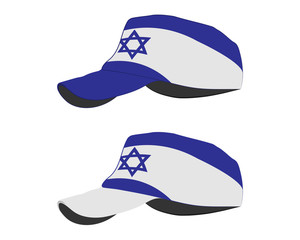 baseball cap with Israil flag. colorful set. vector illustration
