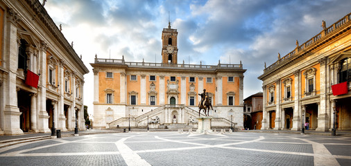 Poster de jardin Rome Capitol Square, Rome