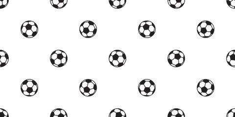soccer ball seamless pattern vector football background wallpaper tile isolated