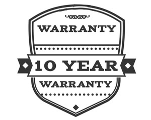 10 years warranty icon stamp guarantee