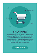Shopping Concept Banner Illustration with Icon