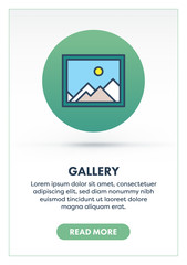 Gallery Concept Banner Illustration with Icon