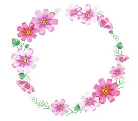 秋桜 コスモスの花 フレーム
