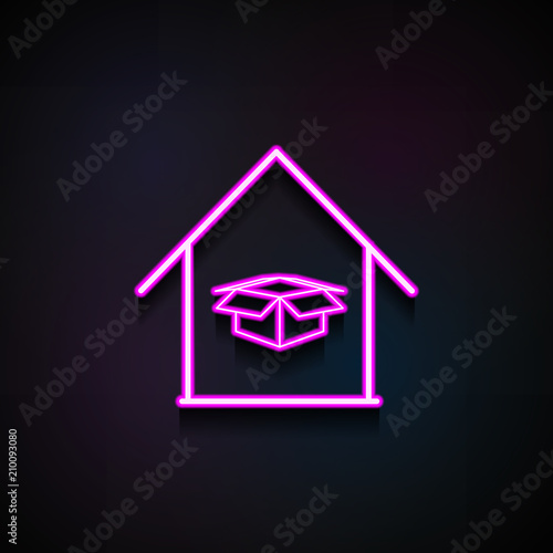 box in home icon  Element of logistics icons for mobile concept and