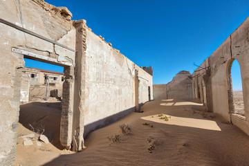 Wall Murals Ass Kolmanskop Deserted Diamond Mine in Southern Namibia taken in January 2018