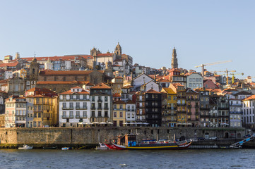 Cityscape of Porto, Portugal in the afternoon by the river Douro