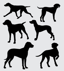6 dogs silhouette