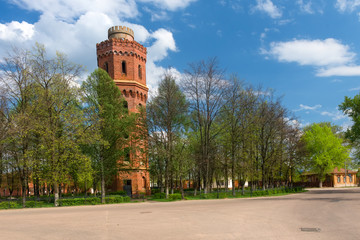 Water tower from the early 20th century. Zaraysk, Russia