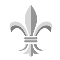 Fleur de lis - heraldic symbol of french royal monarchy