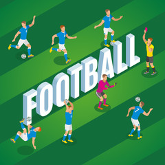 Football Isometric Poster