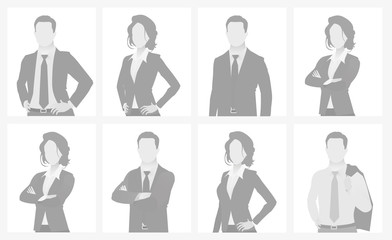 Default placeholder man and woman half-length por