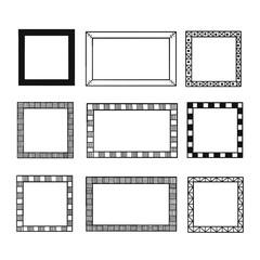 Frames doodle set.
