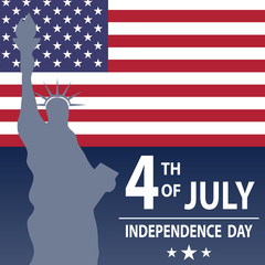 Holiday is the day of US Independence. Holiday on July 4th.