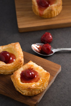 bread danish pastry with red berries