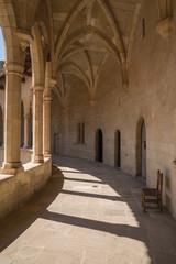 Old monastery corridor high above Palma in Majorca