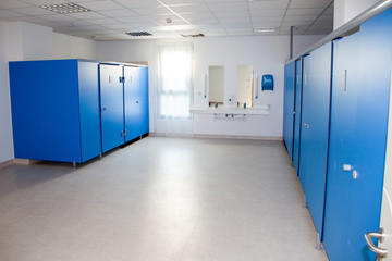blue sport shower room locker rooms