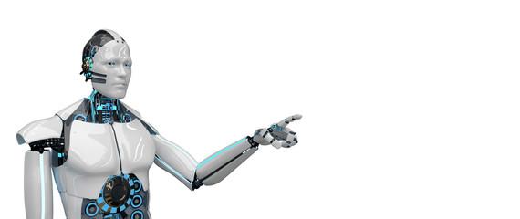 White Robot Click