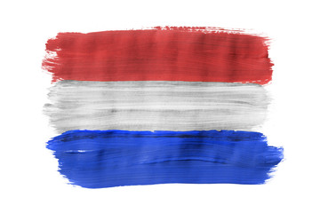 Painted Dutch flag isolated