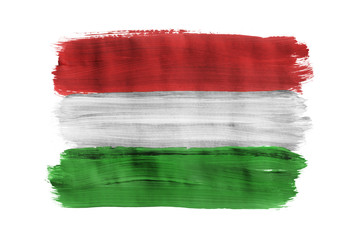 Painted Hungarian flag isolated