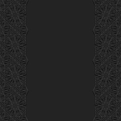 Floral background with traditional ornament