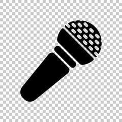 Hands microphone icon. On transparent background.