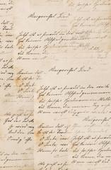 Creative vintage paper texture background handwritten text