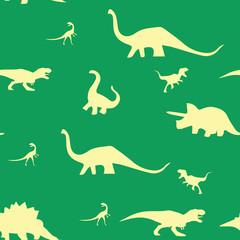 Dinosaur silhouette pattern seamless