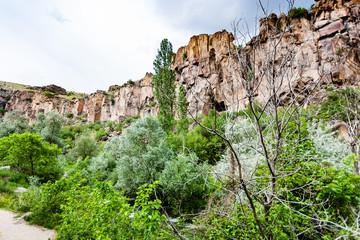 path along stream in Ihlara Valley in Cappadocia