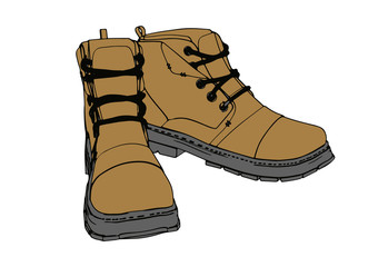 brown vector boots