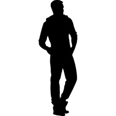 Silhouette of men fashion illustration jpg