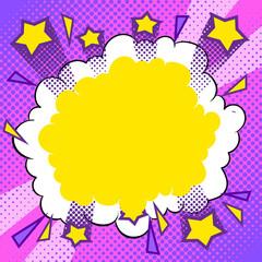Abstract halftone background comic pop art vector
