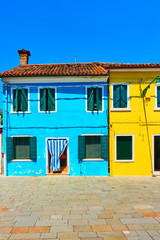 Wall Mural - Colorful houses in Burano