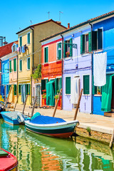 Wall Mural - Houses by canal in Burano