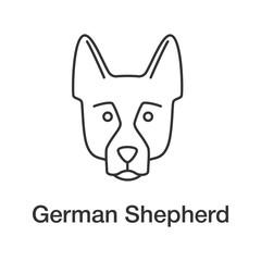 German Shepherd linear icon